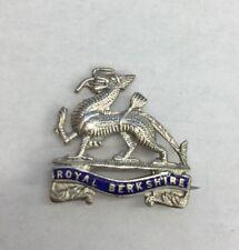 Vintage Solid Silver World War 1/2 Sweetheart Brooch Enamel Royal Berkshire