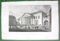 DENMARK Town Hall at Copenhagen - Antique Print Engraving