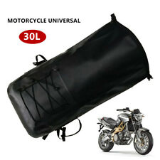 30L 500D Waterproof Backpack Motorcycle Rear Rack Luggage Helmet Fixation Bag