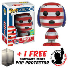FUNKO POP PEANUTS SNOOPY ROCK THE VOTE SDCC 2016 EXCLUSIVE + FREE POP PROTECTOR