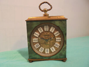 Antique Alarm Clock EUROPA 7 Jewels Art Nouveau