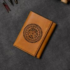 Men's Seal-2 Handmade Natural Genuine Leather Blocking Trifold Wallet MHLT_07