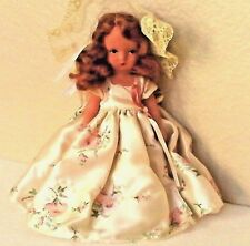 "Nancyann Storybook Bisque Doll 5 1/2"" Tall Cream Colr Floral Dress & Bloomers"