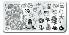 Marine Organism Nail Art Stamping Design Manicure Template Image Plate L013