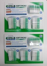 G.U.M. GUM [640 = 320x2] Soft Picks Dental Floss with Case - 2 PACKAGES, 8 CASES