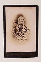 27640 Cabinet-Photographie Photo Vieux Femme Dans Fauteuil Um 1880
