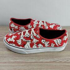 Vans X Disney 101 Dalmations Low Canvas Shoes Mens 7 Womens 8.5 Red White
