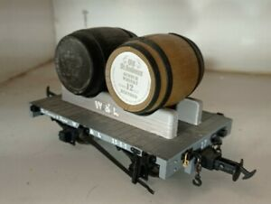 Accucraft W&L Modified Flat Whisky Wagon for 32mm gauge garden railway