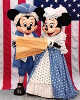 Vintage Original 8x10 1990 Walt Disney World PHOTO Press Publicity Mickey Minnie