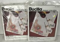 Bucilla Cross-Stitch AUTUMN HARVEST Napkins and Table Runner Kits 82871 82870