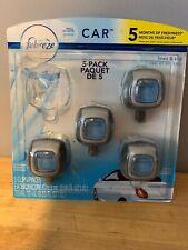 Febreze Air Freshener Car Vent Clips Linen & Sky 4 pack