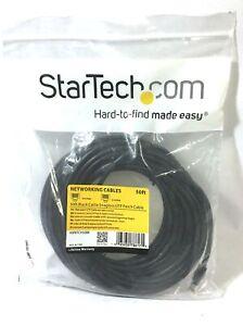 StarTech.com CAT5e Patch Cable Black Ethernet 50ft