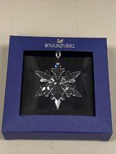 New Swarovski Brand White Crystals Holiday Snowflake Ornament 5511042