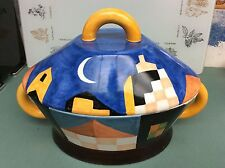 BENLLOCH ESPANA Spanish Art Pottery Covered Casserole Dish - Signed!