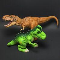 Jurassic World LOT - Stomp and Strike Tyrannosaurus Rex & Playskool Heroes T-Rex