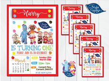 10 PERSONALISED IN THE NIGHT GARDEN 1ST FIRST BIRTHDAY PARTY INVITATIONS INVITES