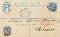Malta. Sobre Yv 8(2). 1891. 2 p azul sobre Entero Postal Certificado de MALTA a