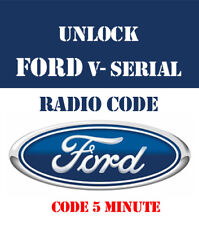 FORD V SERIES RADIO UNLOCK CODE- ONLY - FAST AND INSTANT -