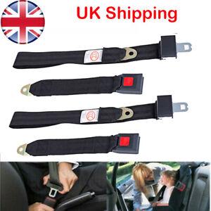 2PCS Universal Car Seat Belt Lap Belts Adjustable 2 Point Bolt Safety Fashion UK