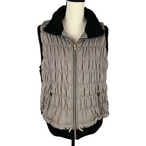 Calvin Klein Performance Quilted Puff Vest Womens 1X Full Zip & Secure Pockets