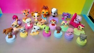 Littlest Pet Shop McDonald's Happy Meal Toys Lot Set of 20 Dogs Cats Animal LPS