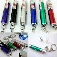 2-in-1 Laser Lazer Pen Pointer Keychain Keyring With Torch Cat Dog Toy Hot.