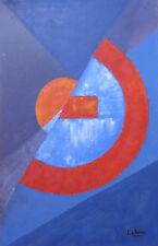 LUCIENNE OLIVIERI (1910-2007) COMPOSITION ABSTRAITE GEOMETRIQUE HUILE / TOILE 7