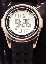 Sharp Men Touch Screen Silver Black Digital Alarm Chrono Watch Hours~New Battery