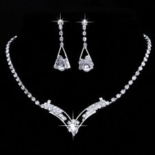 Fashion Jewerlley Sets Wedding Bridal Earring Jewellery Crystal Necklace Womens