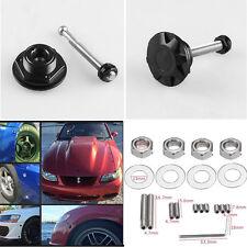 2 x Black Metal Universal Push Botton Billet Car Hood Locking Clip Kit Quick Pin