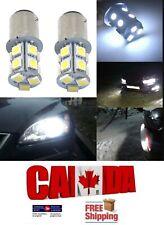 2x 1156 BA15S White LED 13SMD 5050 Car Reverse Backup Turn Signal Lights DRL