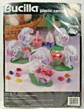 NEW Vintage 1996 Bucilla Plastic Canvas Kit Bunny Egg Cups Set of 5 Easter 9161