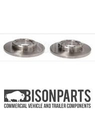 """""""FITS RENAULT MASTER (2014 ONWARDS) REAR AXLE SOLID BRAKE DISC FWD BP105-117 X 2"""