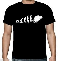 Velocitee Mens Black Evolution Motorbike T Shirt Funny Motorcycle Biker