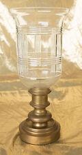 Ralph Lauren Brass Glen Plaid Hurricane Lamps (2)