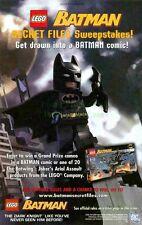 Lego Batman Secret Files Sweepstakes! Set #7782 The Dark Knight: Great Print Ad!