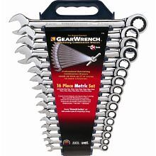WOW! GearWrench 16pc Metric Ratcheting Wrench set 8-24MM #9416