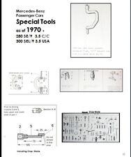 Mercedes SPECIAL TOOLS LIST MANUAL W108 W109 W111 W112 W113 1959-1971