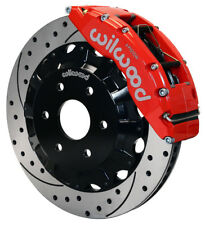 "WILWOOD DISC BRAKE KIT,FR,GMC,CHEVY TRUCK 1500,16"",RED CALIPERS,DRILLED ROTORS"