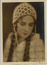 1930 FOTO + AUTOGRAFO SOPRANO CARMEN ASENZIO MORELLI LIRICA DEDICA ALDO BORELLI