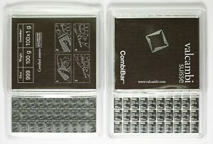 Valcambi Suisse Combibar 100g [100x1g] 999 Fine Silver Bar Mint Sealed Certified