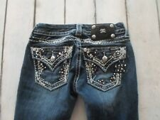 MISS ME WOMENS JEANS SLIM BOOT TAG: 25 - ACTUAL SIZE 25X29 DESIGNER