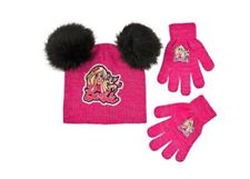 Barbie Girls Winter Hat and Glove Cold Weather Set, Age 4-7