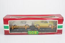 LGB Güterwagen 4159, Spur G / IIm, Autotransportwagen mit Modellautos