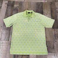Izod XFG Golf Polo Shirt Men's Medium Short Sleeve Green Cool-FX Cotton