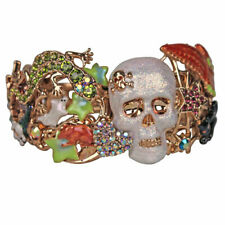 NEW KIRKS FOLLY SKELETON MENAGERIE SKULL CUFF BRACELET GT  OWL, BLACK CAT & MORE