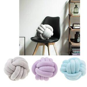 Handmade Creative Knot Pillow Knotted Ball Car Home Decor Throw Cushion Kid Baby