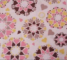 Wishing Well Secret Heart Jenean Morrison for FreeSpirit BTY PWJM095 Pink