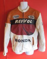 Veste Moto Honda Repsol Blanc Noir Vin rouge ocre blouson moto taille XL nº 09