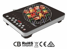 2000W SINGLE HOT PLATE INFRARED COOKER TOUGH GLASS COOKTOP BUTTON CONTROL LED